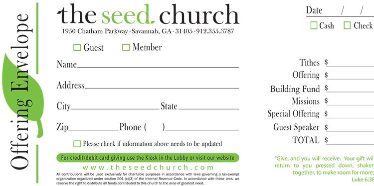 2 color credit card church offering envelope 1000 cce2. Black Bedroom Furniture Sets. Home Design Ideas