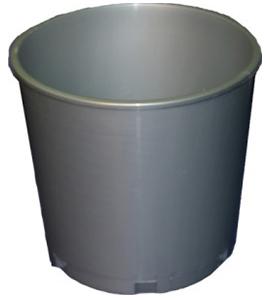 "8"" Blank Church Offering Bucket Grey"