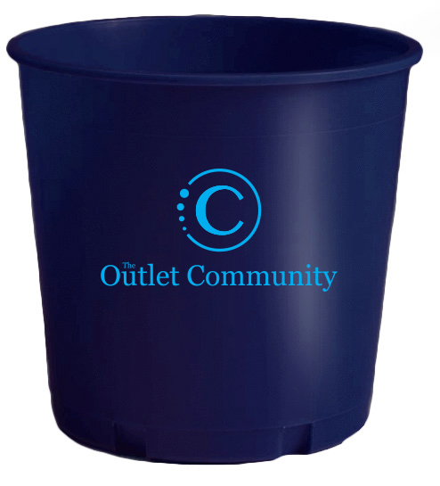 Dark Blue Printed Offering Bucket With Logo