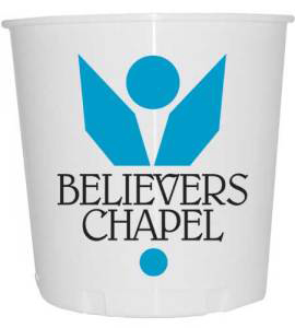 Printed Church Offering Bucket With Logo