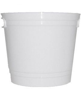 "8"" Wide White Church Offering Bucket"