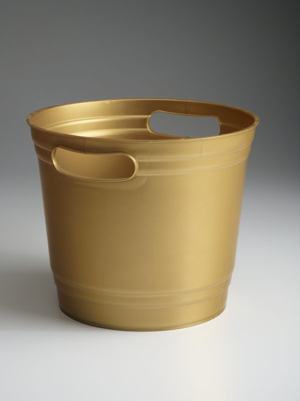 Pearl Gold Offering Bucket With Handles