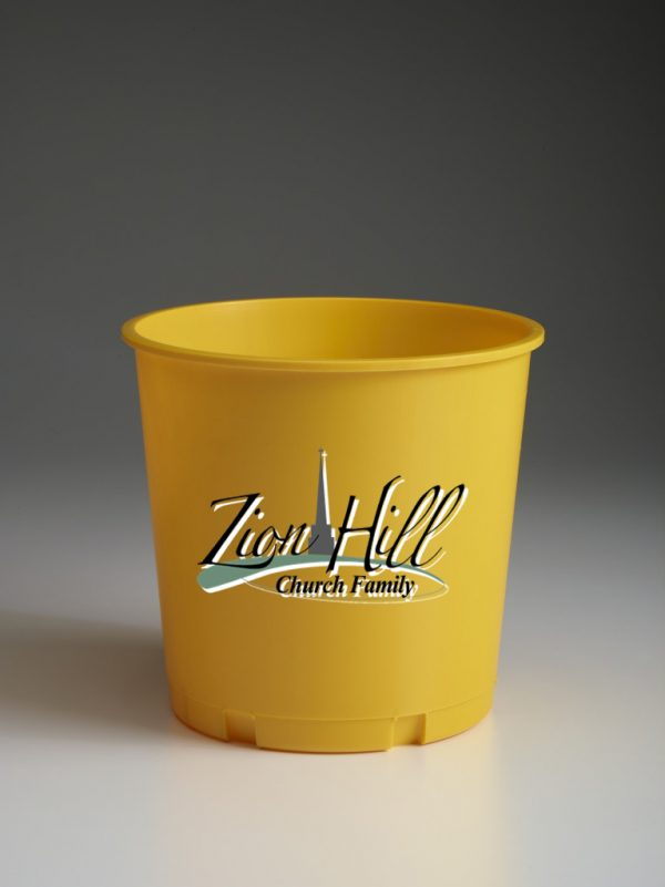 Gold Offering Bucket with Ministry Logo
