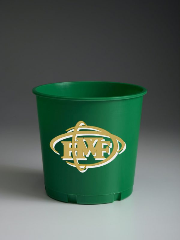 Green Offering Bucket with Ministry Logo