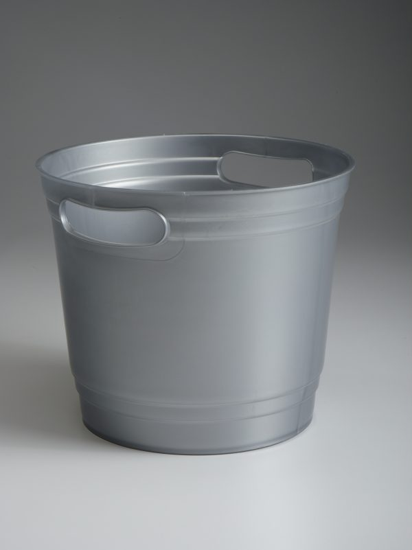 Grey Offering Bucket With Handles