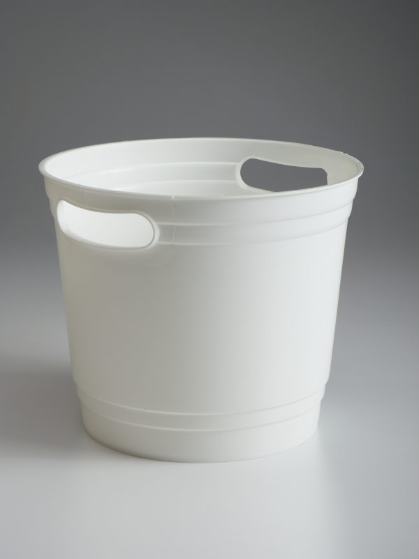 White Offering Bucket With Handles