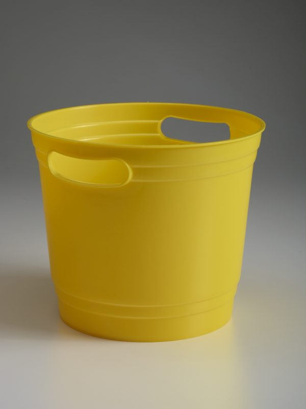 Yellow Offering Bucket With Handles