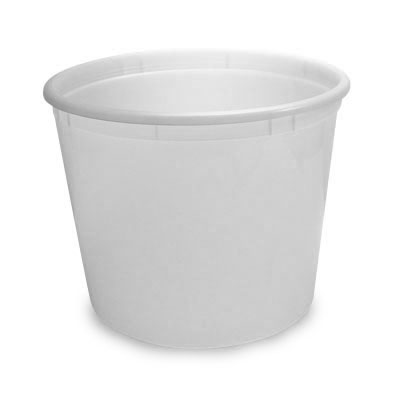 "7"" White Offering Bucket"